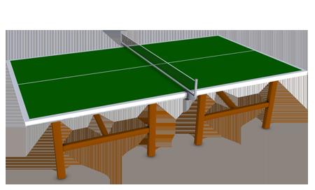 Tennis de table pepslem for Terrain de tennis taille
